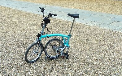 cykel hopfälld